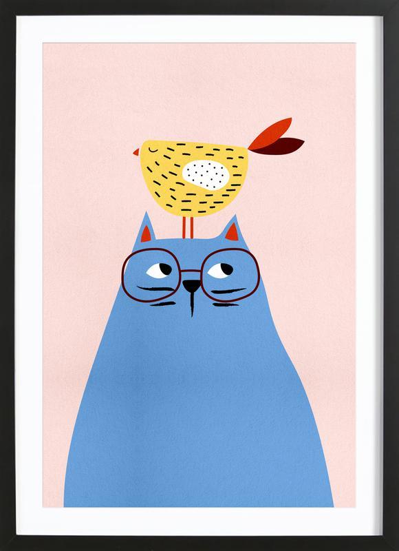 A Very Patient Cat ingelijste print