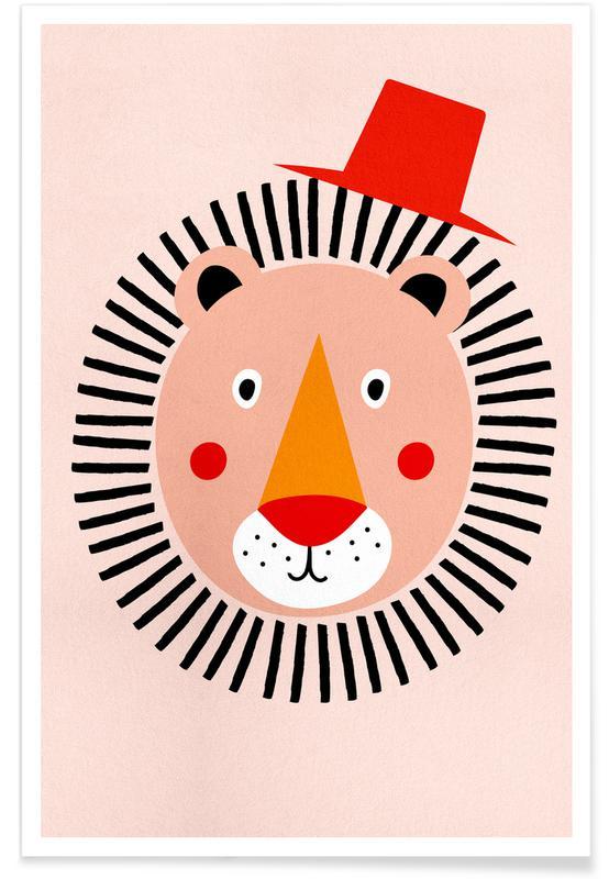 Børneværelse & kunst for børn, Løver, Well Dressed Lion Plakat