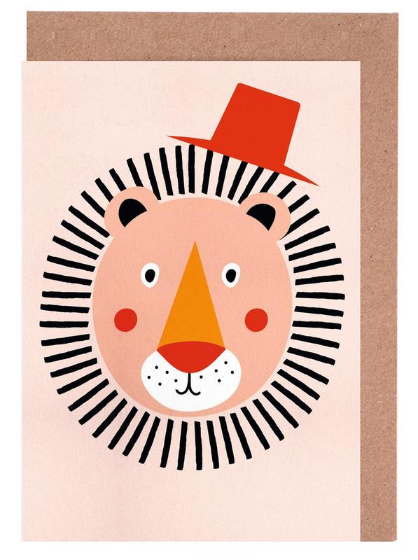 Well Dressed Lion -Grußkarten-Set