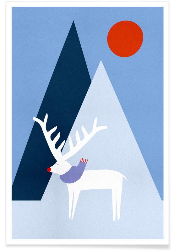 Cervi, Arte per bambini, Rudolph poster