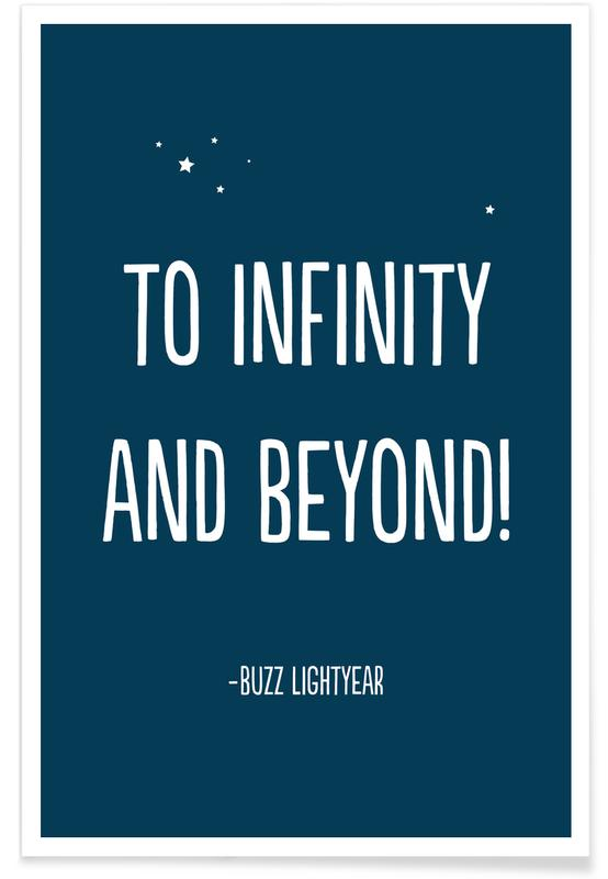 Art pour enfants, To Infinity, and Beyond! affiche