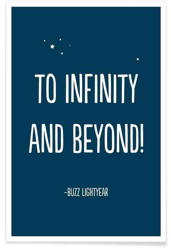 Arte para niños, To Infinity, and Beyond! póster