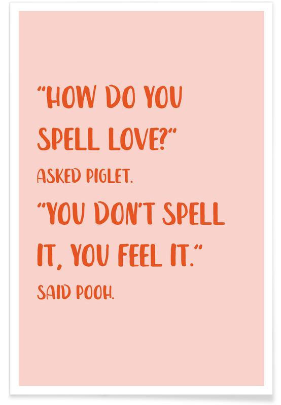 Børneværelse & kunst for børn, How Do You Spell Love? Plakat
