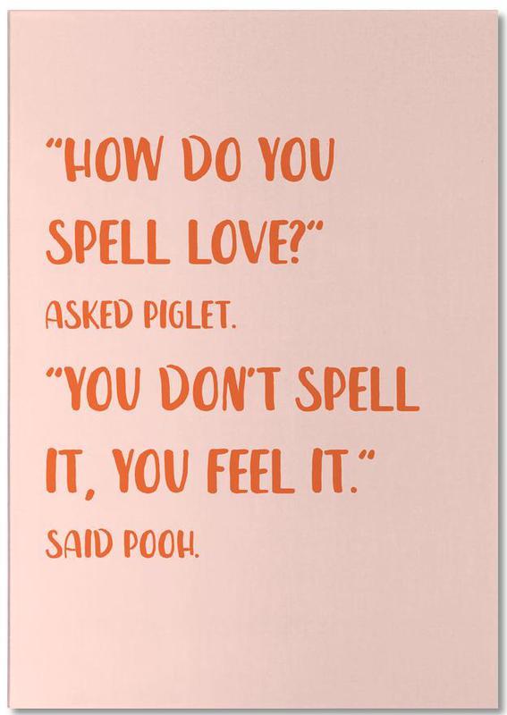 How Do You Spell Love? -Notizblock