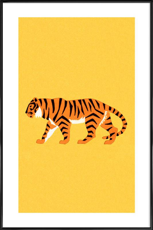 Tiger Yellow Framed Poster