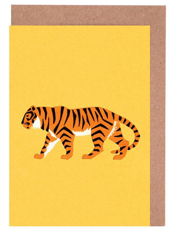 Tiger Yellow -Grußkarten-Set