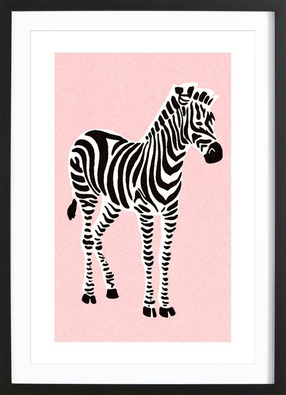 Zebra Pink Framed Print