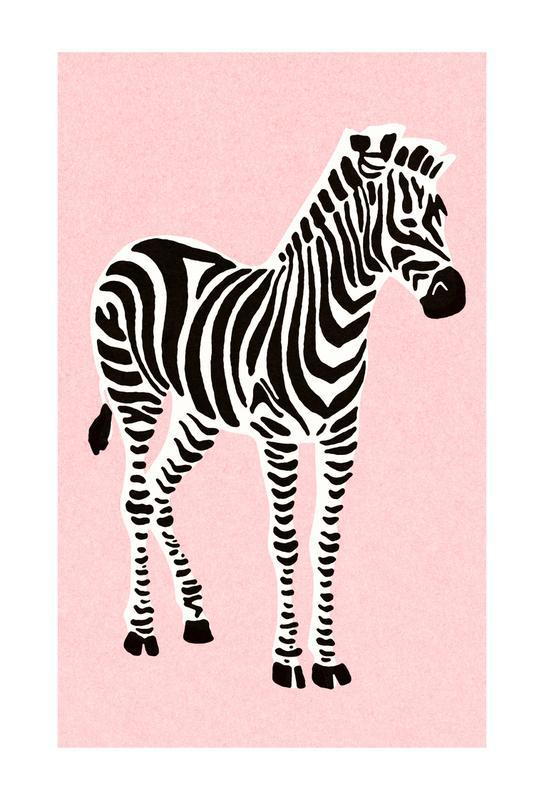 Zebra Pink Aluminium Print