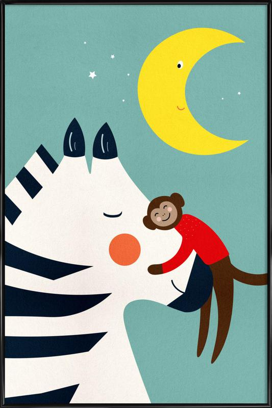 Goodnight Hug -Bild mit Kunststoffrahmen