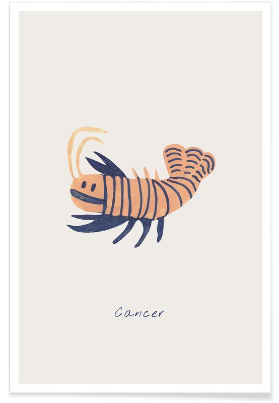 Børneværelse & kunst for børn, Cancer Plakat