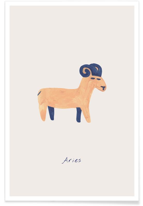 Børneværelse & kunst for børn, Aries Plakat
