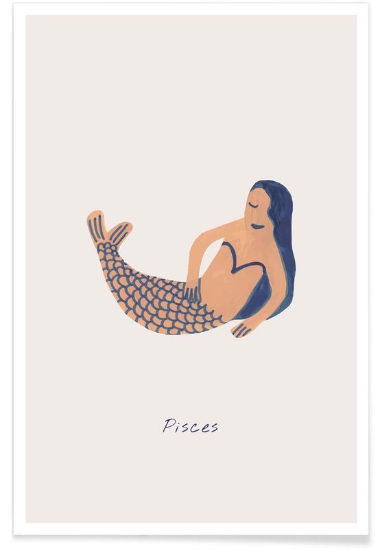 Børneværelse & kunst for børn, Pisces Plakat