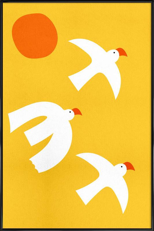 Flying Doves Framed Poster