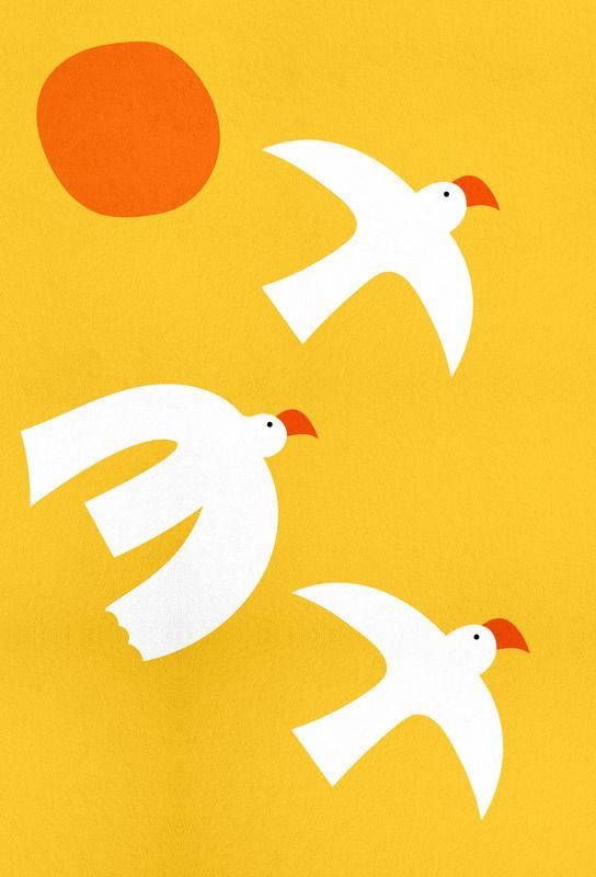 Flying Doves Akrylglastavla