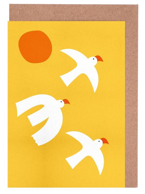 Nursery & Art for Kids, Doves, Flying Doves Greeting Card Set