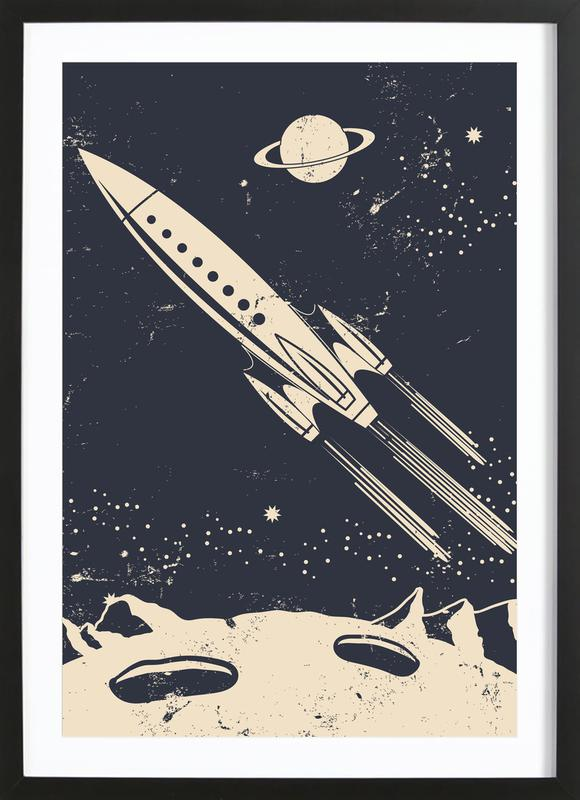 Space Rocket II Poster i träram