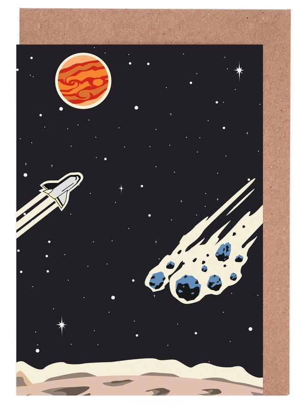 Space Rocket -Grußkarten-Set