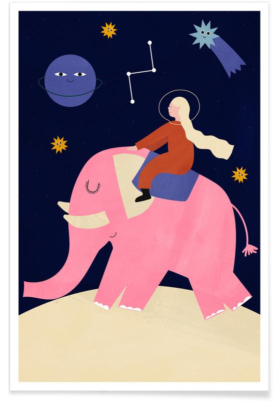 Elephant Ride Poster