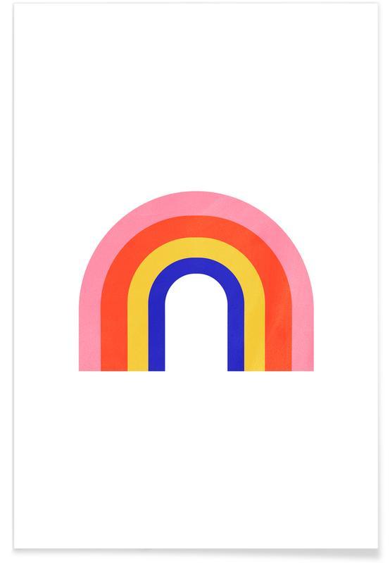 Børneværelse & kunst for børn, Rainbow Plakat