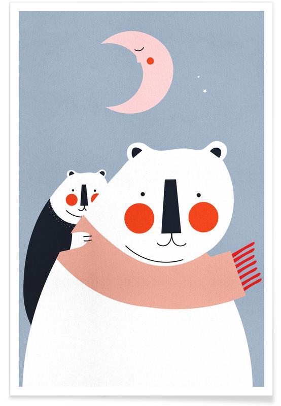 Ours, Art pour enfants, A Cosy Winter affiche