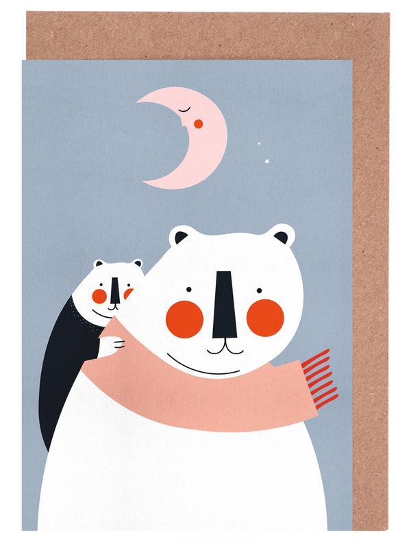 Ours, Art pour enfants, A Cosy Winter cartes de vœux