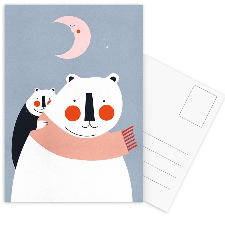 Ours, Art pour enfants, A Cosy Winter cartes postales