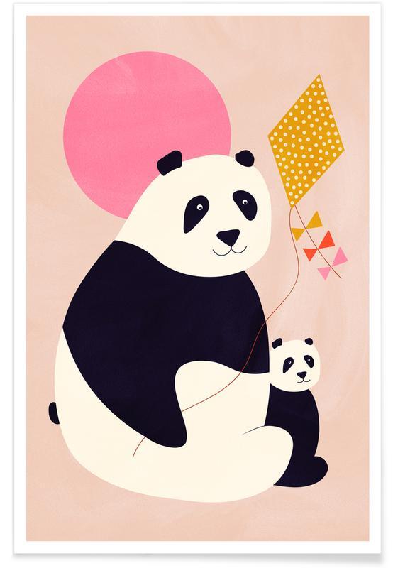 Børneværelse & kunst for børn, Pandaer, Panda Bears Plakat