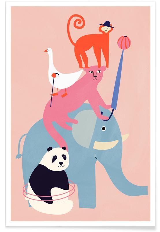 Børneværelse & kunst for børn, Animal Pyramid Plakat
