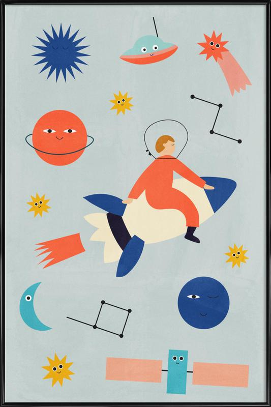 Friends in Space ingelijste poster
