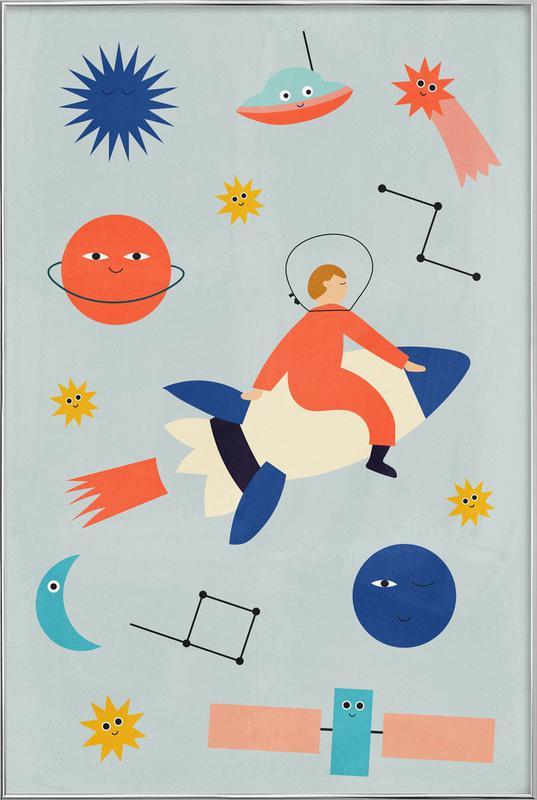 Friends in Space poster in aluminium lijst