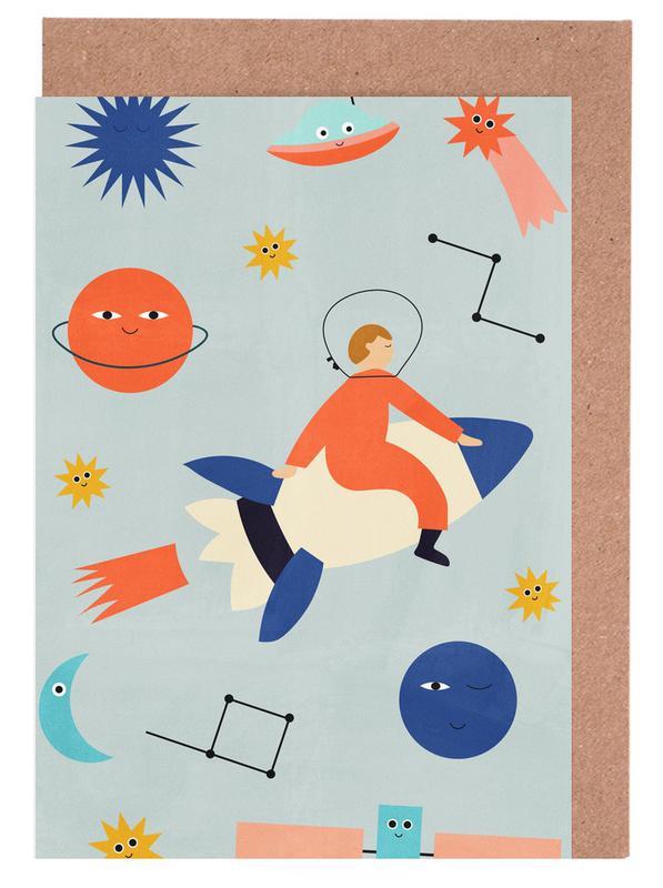 Friends in Space -Grußkarten-Set