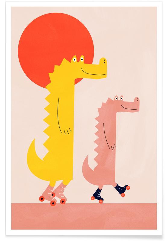 Børneværelse & kunst for børn, Roller Crocs Plakat