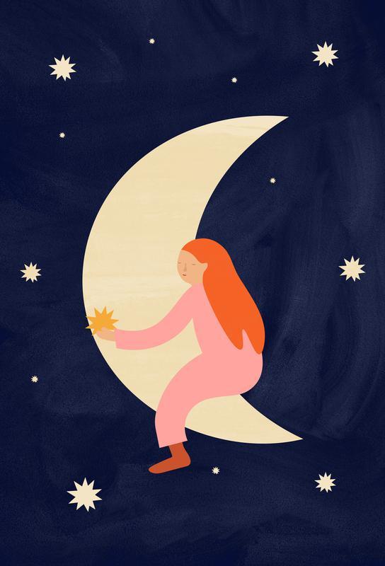 Lullaby Moon tableau en verre