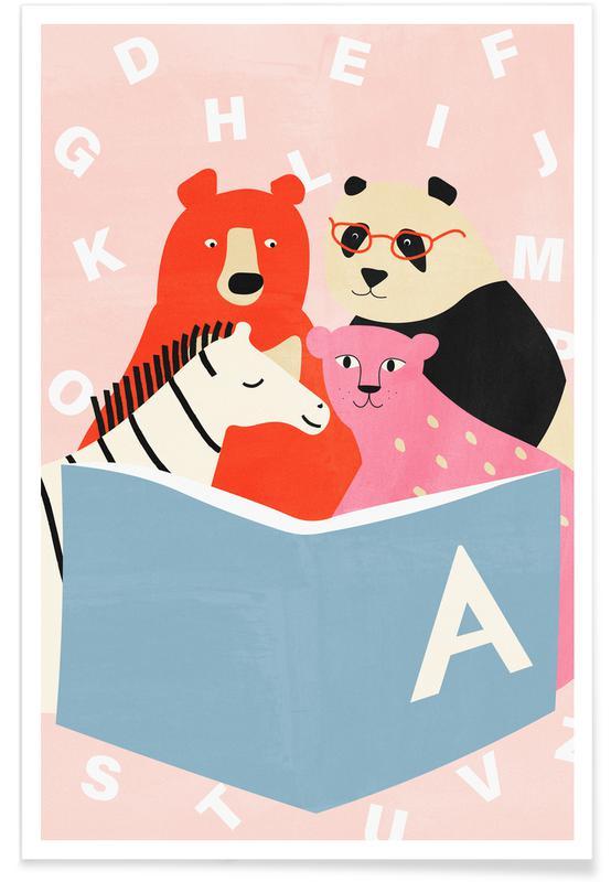 Børneværelse & kunst for børn, Story Time Plakat