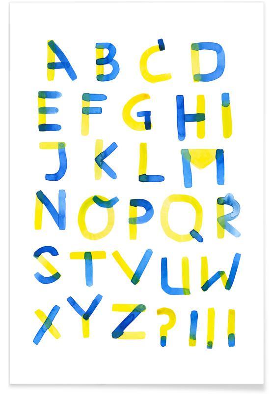 Colourful Alphabet affiche