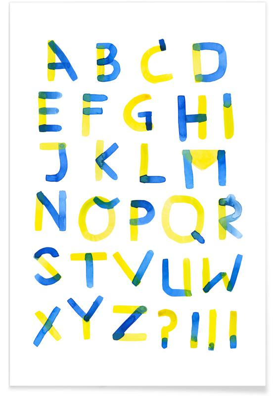 Colourful Alphabet Poster