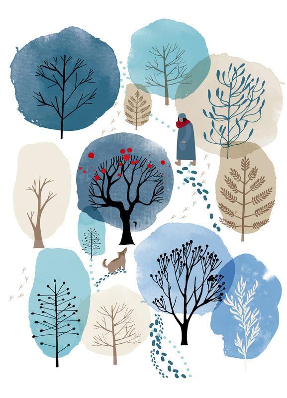 Winter Forest -Leinwandbild