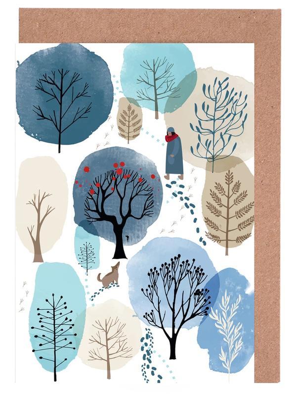 Winter Forest -Grußkarten-Set