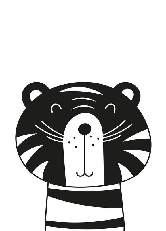 Happy Tiger toile