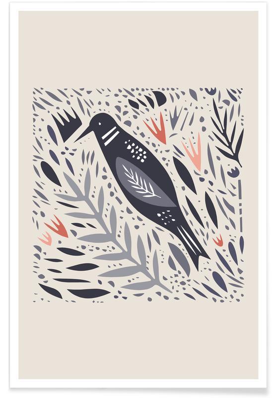 Børneværelse & kunst for børn, Birdsong Plakat