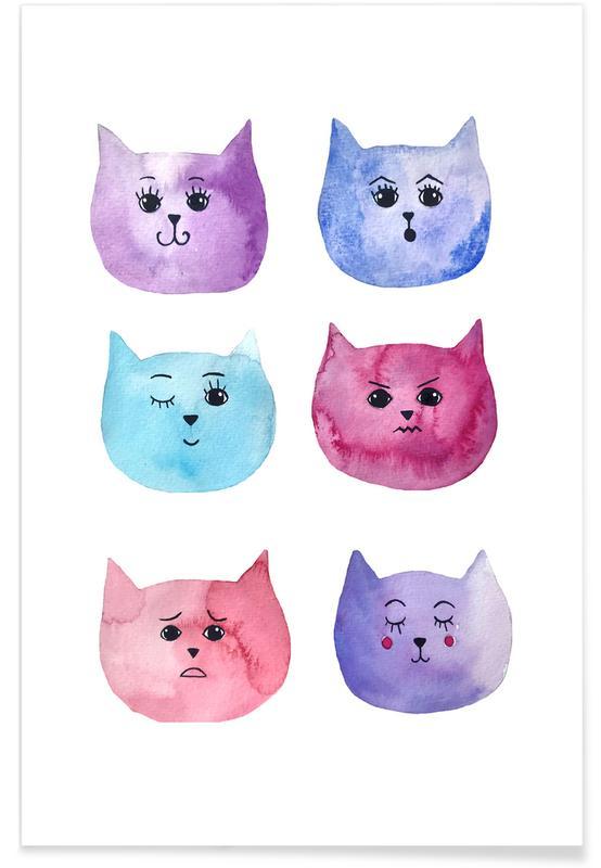 Feline Feelings Poster
