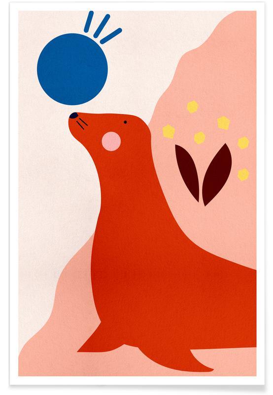 Børneværelse & kunst for børn, Sæler, The Perfect Balance Plakat