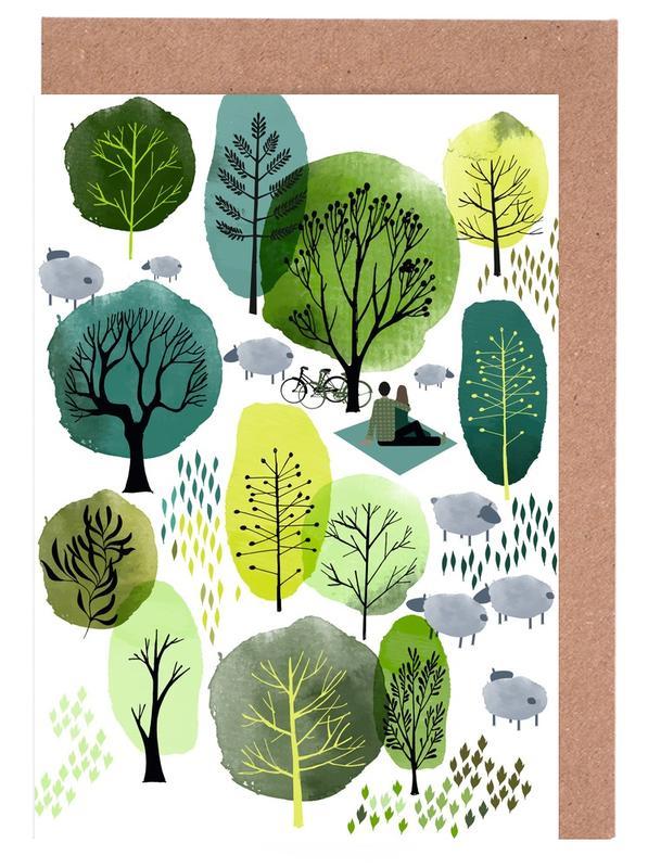 Spring Forest -Grußkarten-Set
