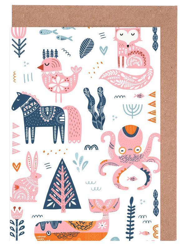 Patchwork Animals -Grußkarten-Set
