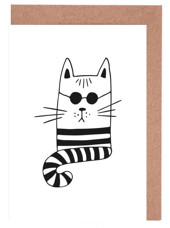 Cool Cat -Grußkarten-Set