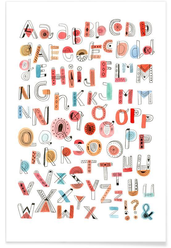 Art pour enfants, Alphabet Soup affiche