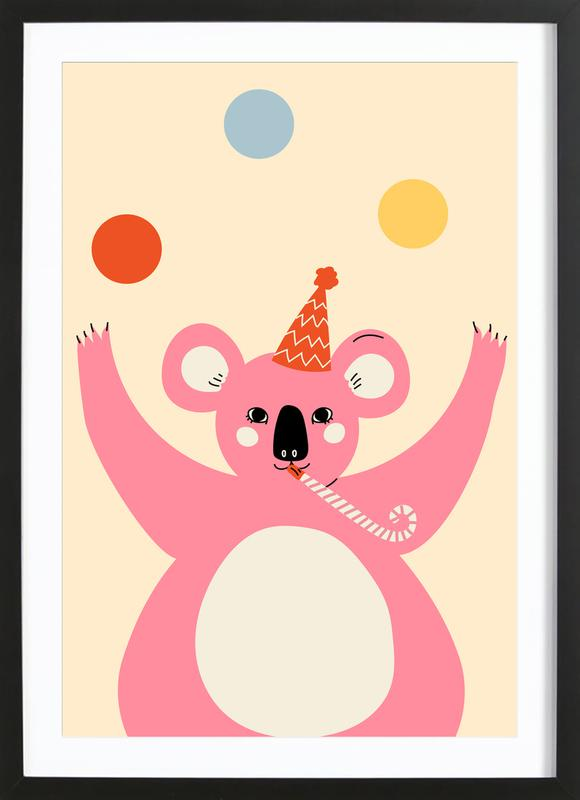 Koala's, Kunst voor kinderen, Juggling Koala ingelijste print