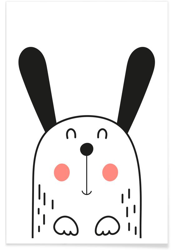 Hunde, Børneværelse & kunst for børn, Happy Dog Plakat