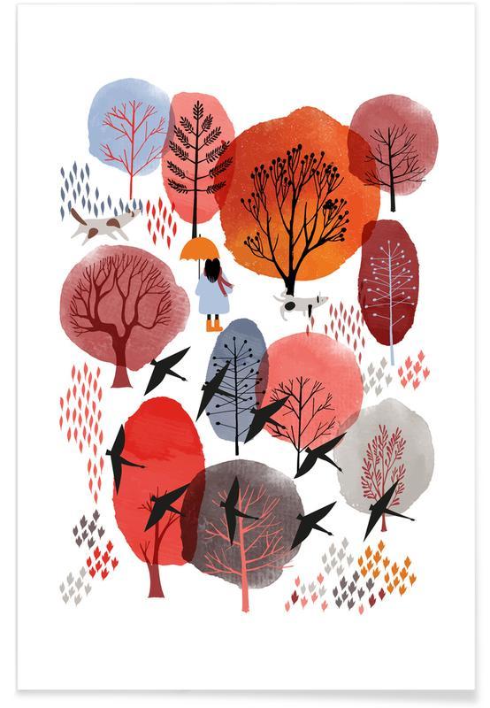 Art pour enfants, Forêts, Autumn Forest affiche