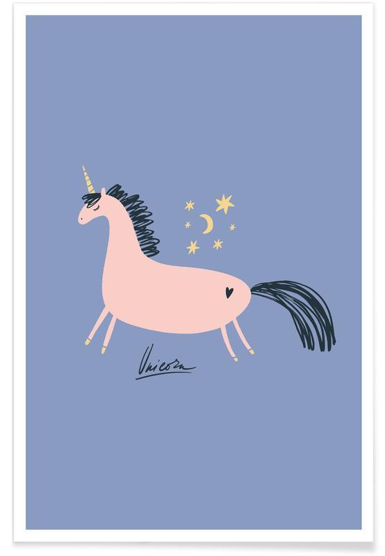 Eenhoorns, Kunst voor kinderen, Unicorn Magic poster